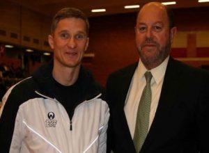 Александр Зыков и Antonio Espinos President WKF (Spain). Чемпионат Северных стран. Копенгаген.2009г.